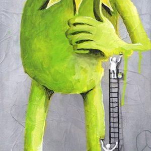 Kermit by the waall painters 40 x 100 cm