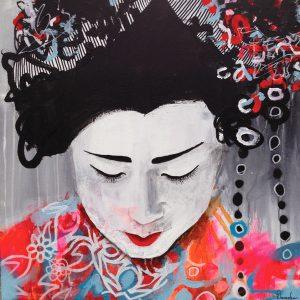 Little Geisha: 50 x 50 cm. SOLGT
