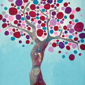 Purple tree 60 x 80 cm