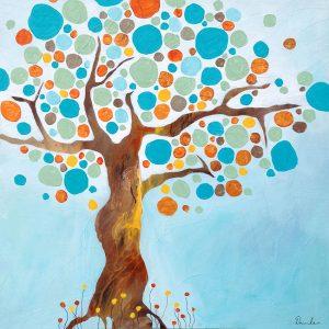 Retro Tree 60 x 60 cm