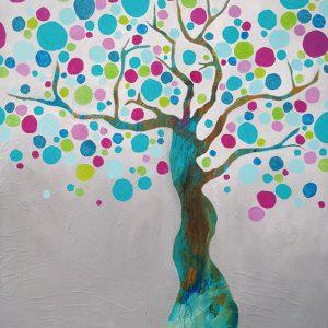 Summer Tree 80 x 120 cm.