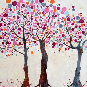 Three trees: 100 x 80 cm. Pris: SOLGT