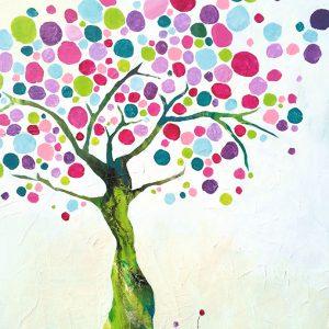 First Tree: 50 x 60 cm.