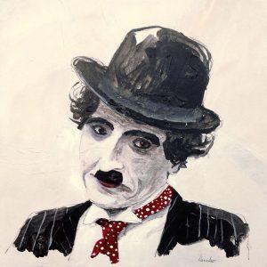 C. Chaplin: 40 x 40 cm. SOLGT