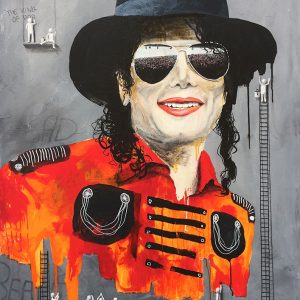 The King of pop - By the wall painters.  100 x 120 cm
